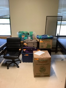 Alfred Student Storage | Packed Dorm Room