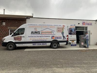 Alfred Student Storage   AIMS Storage Van
